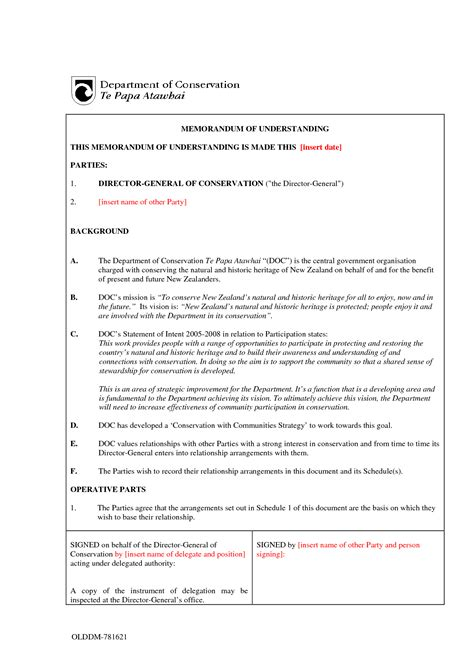 template for a memorandum of understanding mou sle invitation templates memorandum of