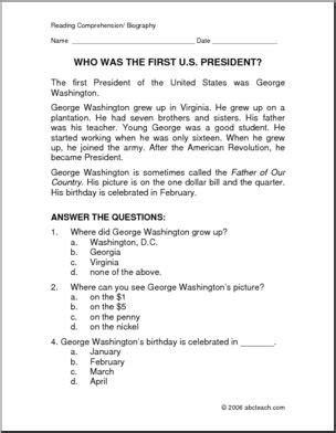 biography of george washington for elementary students 187 free george washington mini unit lesson plan of happiness
