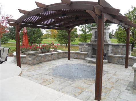 covering a pergola for pergola and patio cover elburn il photo gallery landscaping network