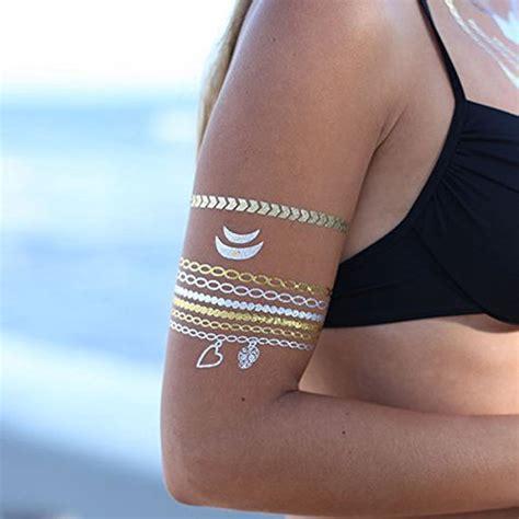 shiny tattoo cheritatts 5 metallic tattoos flash tattoos gold
