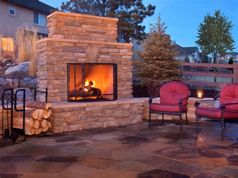 Outside Fireplace by How To Plan For Building An Outdoor Fireplace Hgtv