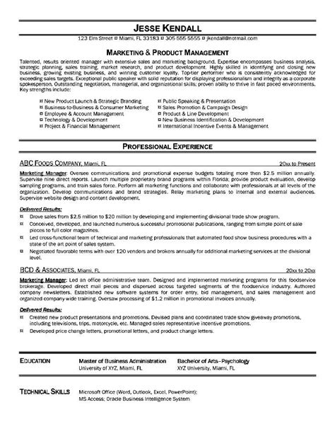 resume format for marketing executive free sles exles format resume curruculum