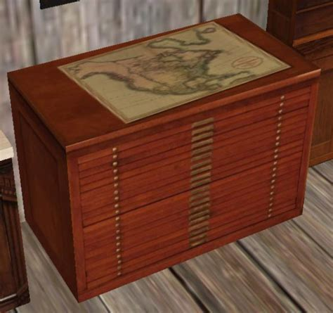 map storage cabinet mnm 1 one prim map cabinet artist storage chest images frompo