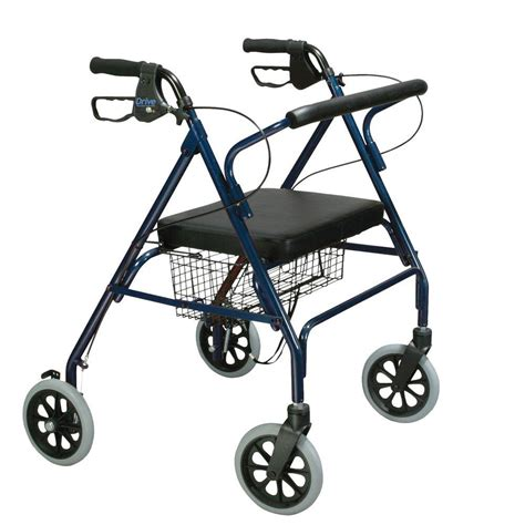 drive 4 wheel walker with seat drive heavy duty bariatric 4 wheel rollator walker with