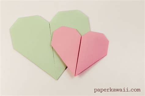origami tutorial videos easy origami heart video tutorial paper kawaii