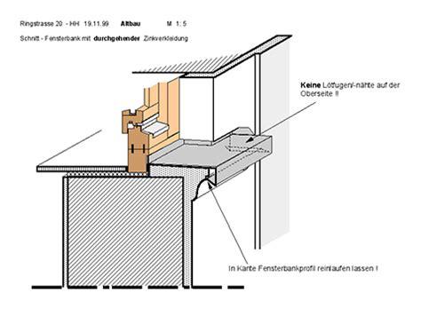 fensterbrett schnitt hh sanierung modern neubauteil u dachausbau mfh