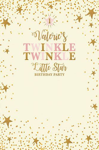 Pcc St Pink custom 1st birthday backdrop twinkle twinkle background a backdrop outlet