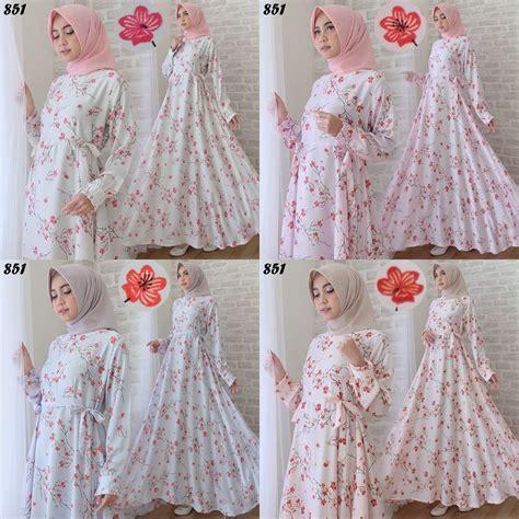 Dress Bunga Cantik Sy Bg 01 maxi maxmara motif bunga c851 gamis cantik remaja modern