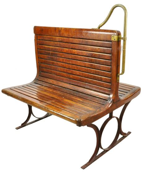 trolley bench trolley car wooden seating bench
