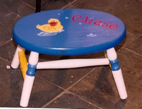 Painted Personalized Step Stools by 1000 Ideas About Step Stools On Pallet Stool