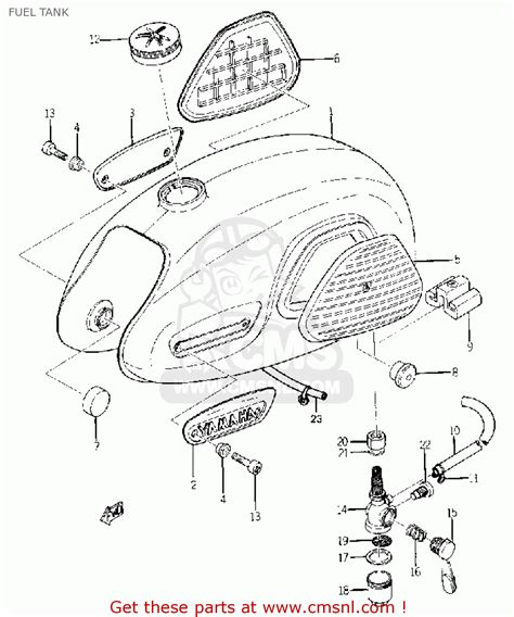 yamaha yg1 trailmaster 80 1964 usa fuel tank schematic