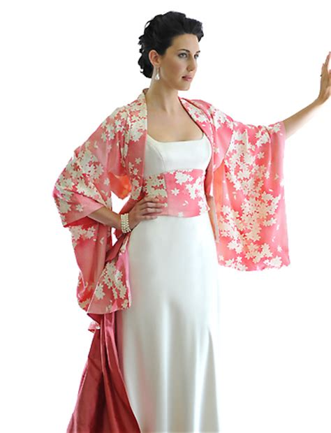 Dress Obi 2in1 Flower 25 cherry blossom kimono we of colour wedding