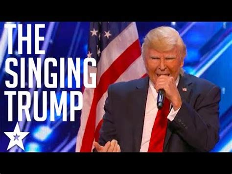 donald trump america got talent the singing trump on america s got talent 2017 got
