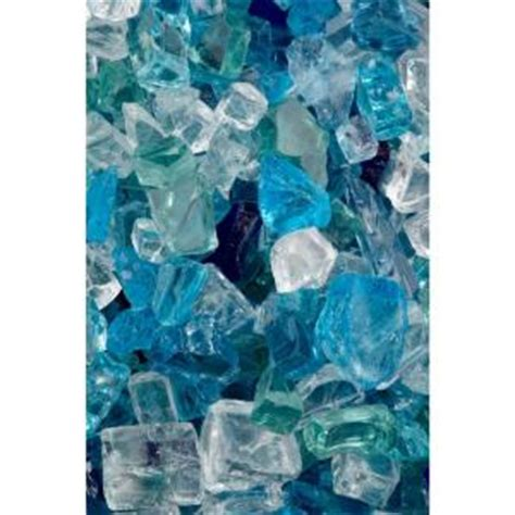 Fireplace Glass Rocks Home Depot by Firecrystals 30 Lbs Caribbean Sway Glass Value Pak