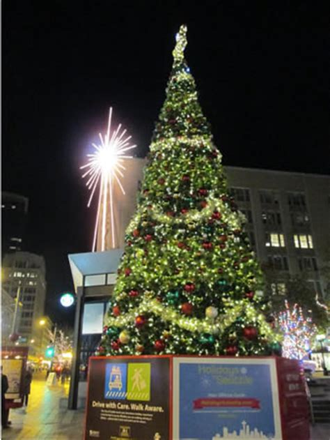 christmas tree lighting seattle lights around the world