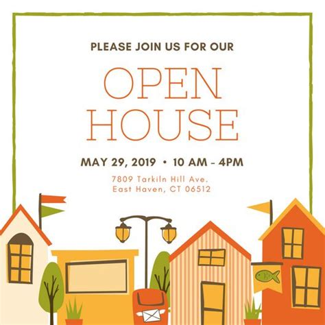 open house template customize 127 open house invitation templates canva