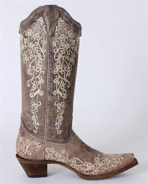 embroidered cowboy boots corral boots 174 crater bone embroidered boots fort