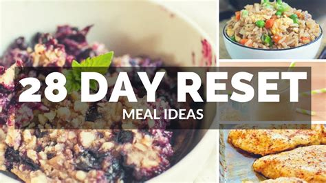 28 day reset approved meal ideas cheap clean eats misschriscash