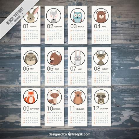 Calendario Animales Calendario De 2017 Con Adorables Animales Descargar