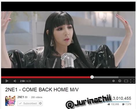 2ne1 come back home has reached 3 m views by jurinachii