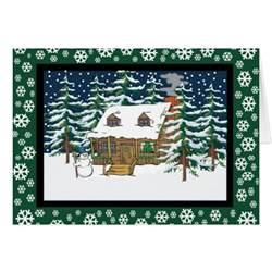 log cabin card zazzle
