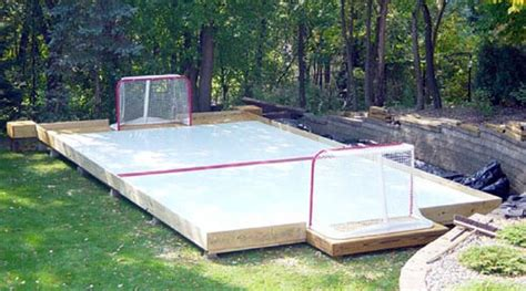 backyard rink thickness constructing support