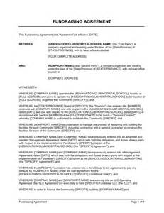 fundraising agreement template sle form biztree