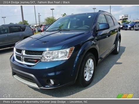 blue dodge journey fathom blue pearl 2014 dodge journey sxt black
