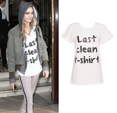 delevingne womens white  clean  shirt slogan