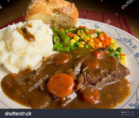 American Comfort Foods by American Comfort Food A Dish Of Pot Roast Smothered