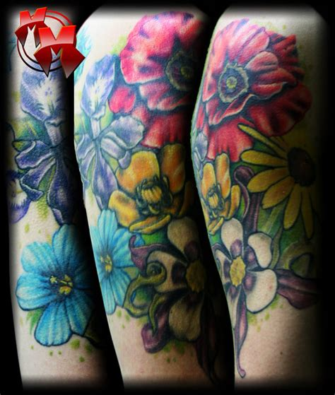 quarter sleeve flower tattoo flower tattoo quarter sleevehelenasaurus