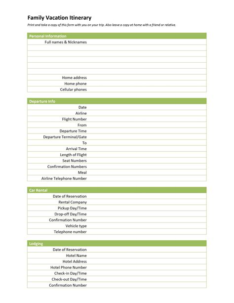 9 useful travel itinerary templates that are 100 free