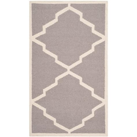 safavieh grey rug safavieh dhurries grey ivory 2 ft 6 in x 4 ft area rug dhu567a 24 the home depot
