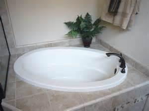 modern round bathtub refinishing ideas with ceramic tiles