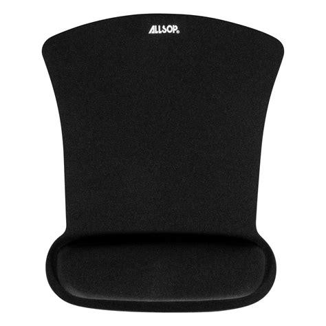 Gel Wrist Rest Mouse Pad Black 207tf7 ergoprene gel mouse pad with wrist rest black 30191