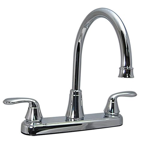 rv kitchen faucet parts phoenix products rb5602 i two handle hybrid high arc 8 inch kitchen faucet chrome rv parts