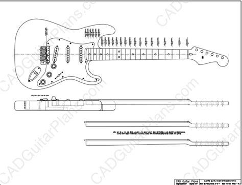 electric acoustic guitar plans pdf stratocaster electric guitar plan fender style cad