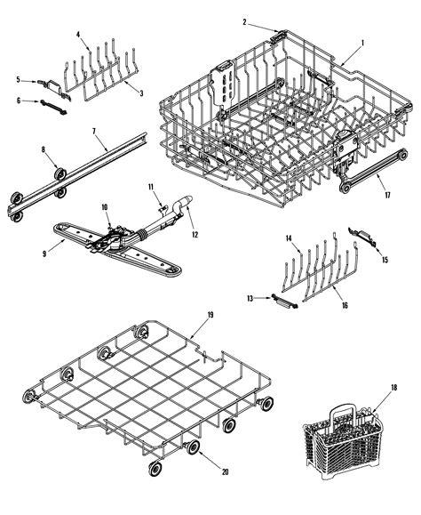 maytag dishwasher parts diagram maytag dishwasher rack assembly upr parts model