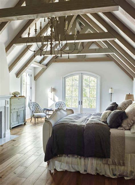 stunning master bedroom retreats  vaulted ceilings
