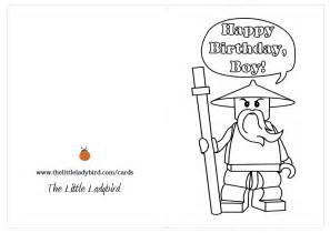 printable coloring happy birthday cards 7 best images of lego birthday printable cards to color