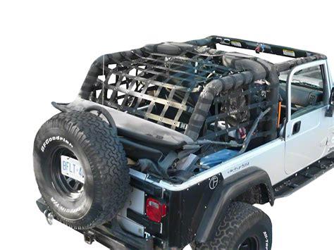dirty dog 4x4 wrangler rear netting black l2nn04rcbk 04 06 wrangler tj unlimited - Extreme 4x4 Jeep Lj Giveaway