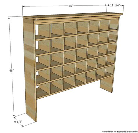 shoe storage dimensions remodelaholic build a vintage mail sorter shoe cubby