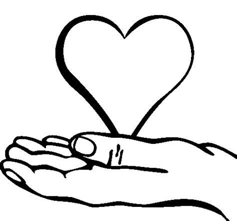 imagenes de corazones hechos con las manos manos orando para colorear imagui