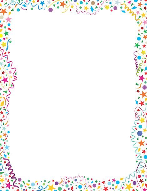 printable star picture frame printable confetti border free gif jpg pdf and png