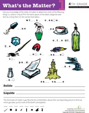 what is matter worksheet what s the matter 1 worksheet education