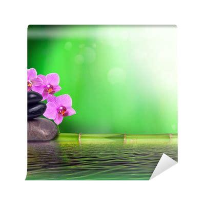 bambus le stillleben aus bambus orchidee und steinen vinyl wall