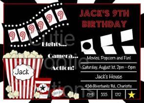 movie birthday invitations movie night by