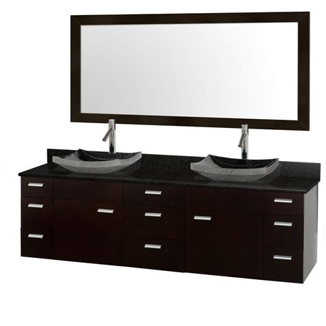 Black Bathroom Vanities With Tops Encore 78 Quot Bathroom Vanity Black Granite Top