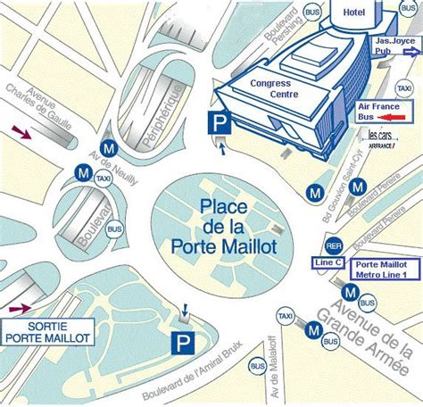 plan of porte maillot in