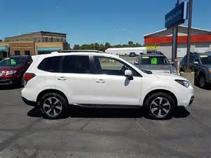 subaru forester 2017 white 2017 subaru forester 2 5i premium w all weather pkg
